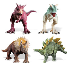 Classic Dinosaur Model Toy Niu Long Stegosaurus Triceratops Model Toy large size classic dinosaur toy triceratops soft animal model collection for boys action