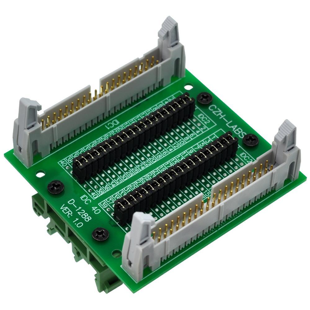 CZH-LABS DIN Rail Mount IDC40 2x20Pin 0.1