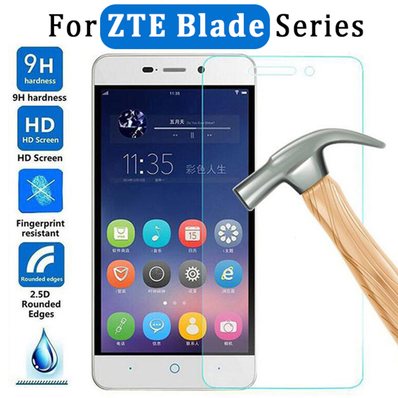 Tempered Glass For ZTE Blade V10 Vita V9 V8 Mini V7 Lite V6 Protective Glass Safety Film 9H HD Screen Protector For Blade X5 X3