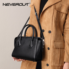 NEVEROUT Genuine/Real Leather Small Handbags for Women Bag High Quality Brand Tote Casual Crossbody Shoulder Top-handle Handbag