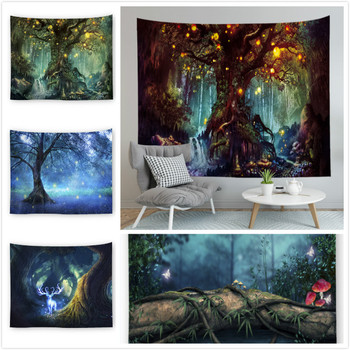 2020 New Wish Tree Tapestry Home Decor Wall Hanging Carpet Multifunctional Cover Table Cloth Picnic Blanket Beach Towel janeyu new cosmos star velvet multifunctional polyester tapestry hanging beach towel