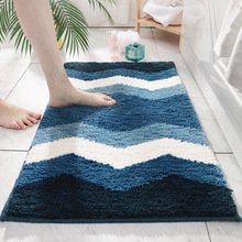 Geometric Strip Hallway Rugs Carpet Flocking Bedroom Bathroom Area Rug Anti-slip Water Absorption Floor Mat For Living Room brick wall pattern indoor outdoor water absorption area rug