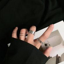 Ensemble de bagues articulées Vintage pour femme, bijoux, Design Simple, couleur argent, Version coréenne, 2020