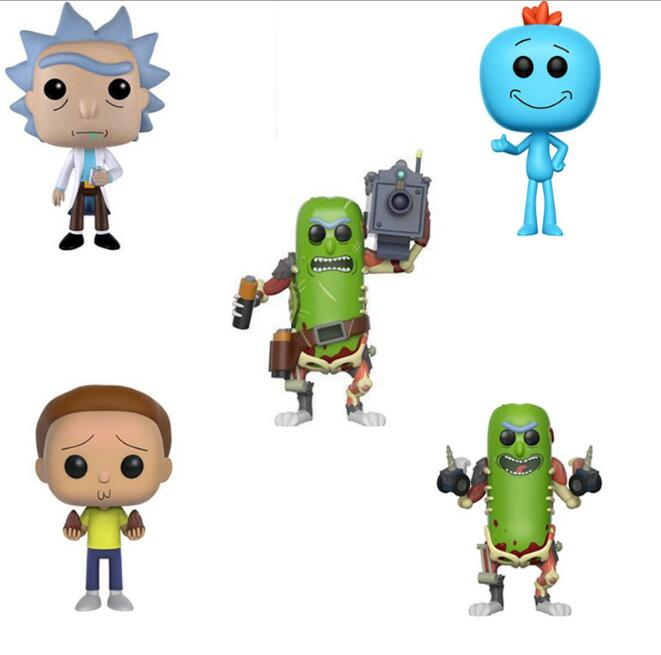 10cm Rick And Morty 174 Mr Meeseeks Pickle Vinyl Dolls Action Figure PVC Toys