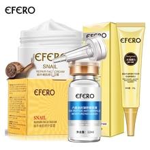 EFERO 1 шт лицо улитки крем отбеливающий дневной крем+ 1 шт Сыворотка для лица против возраста морщин Сыворотка+ 1 шт коллаген крем для глаз ремонт темных кругов