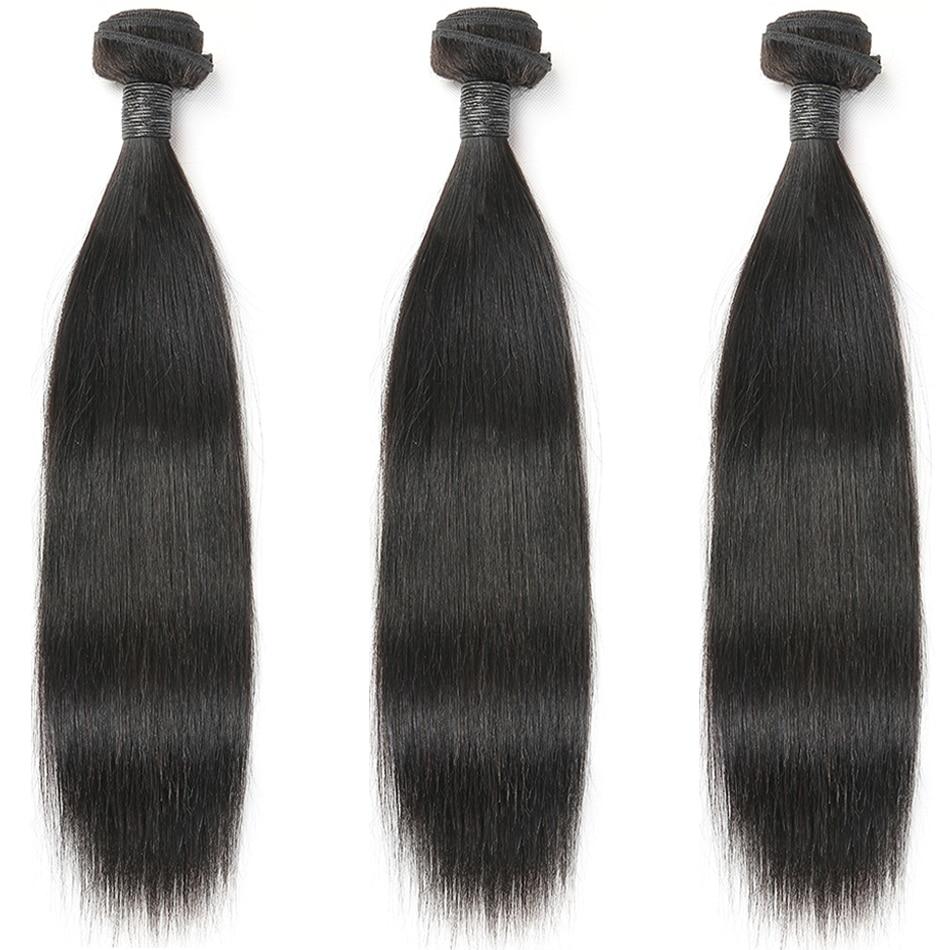 Cabelo reto 100% pacotes de cabelo humano cor natural 3/4 pacotes cabelo indiano extensões cabelo remy mihair tece