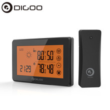 DIGOO DG-TH0340 Weather Station LCD Digital Temperature Humidity Meter Home Indoor Outdoor Hygrometer Thermometer Alarm Clock