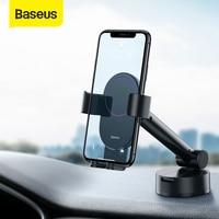 Baseus自動車電話ホルダー携帯電話ホルダースタンドiphoneカーエアコンベントマウント携帯電話自動車電話スタンドでサポート