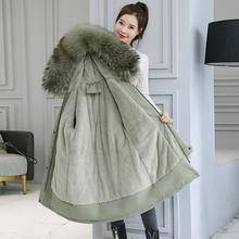Длинная зимняя куртка парка с капюшоном и меховой подкладкой