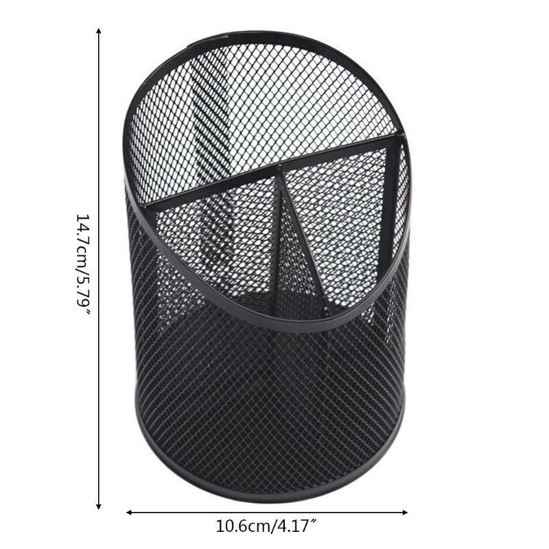 Multifunctional Metal Mesh Desk Pen Pencil Holder Organizer Container Stationery AXYF