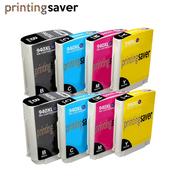 8Pcs HP 940 xl 940XL C4906A C4907A C4908A C4909A with full ink compatible ink cartridge For HP Officejet Pro 8000 8500 8500A картридж струйный hp c9391ae n 88xl cyan with vivera ink