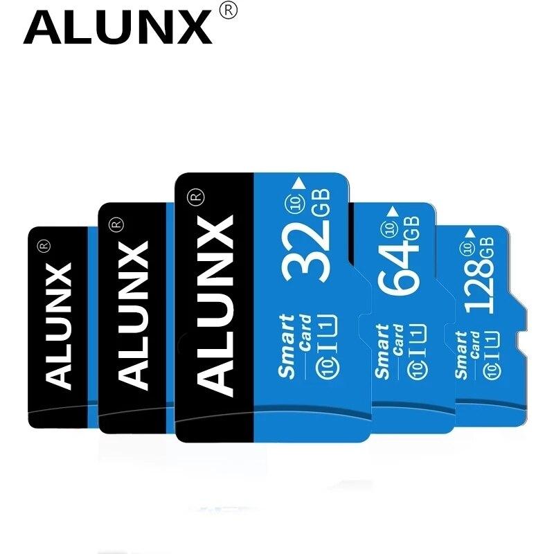 ALUNX карта Micro SD класса 10 16 Гб оперативной памяти, 32 Гб встроенной памяти, 256 ГБ 64 ГБ 128 ГБ 8 ГБ карта памяти C10 мини SD карты C4 8 Гб SDHC TF карта для сма...