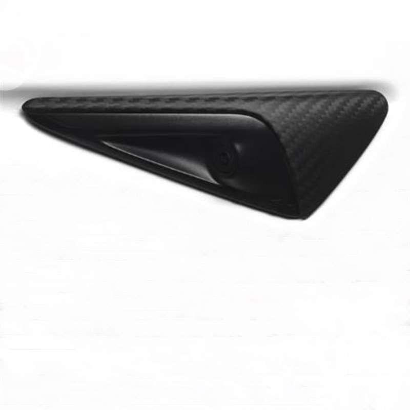 Cubierta protectora lateral para cámara de fibra de carbono, acabado mate, glaseado, accesorios para Tesla Model 3 S X, 2 uds.