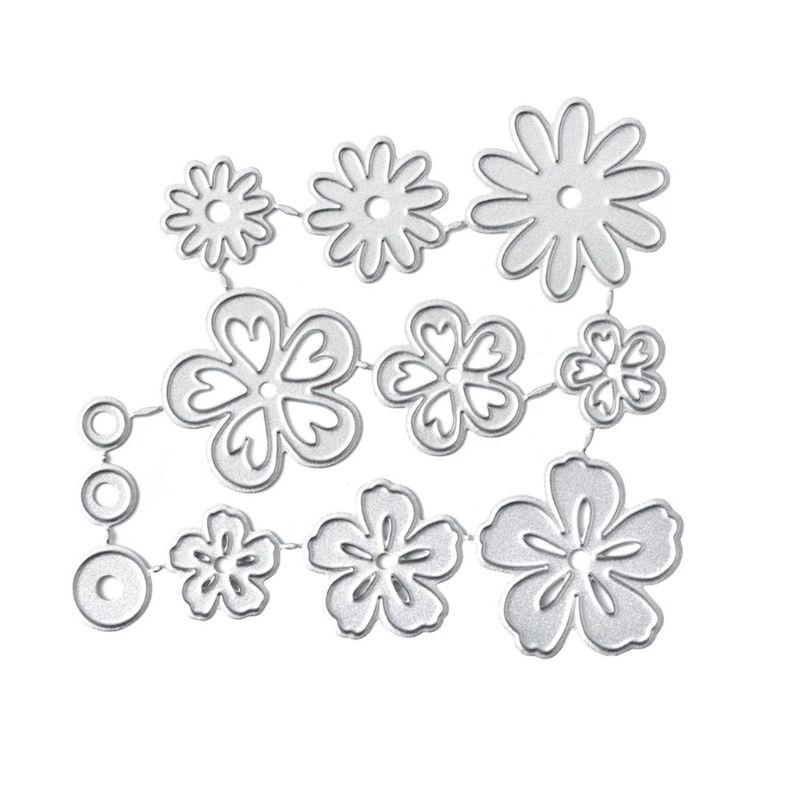 Mini Flowers Metal Cutting Dies Stencil Scrapbooking DIY Album Stamp Paper Card