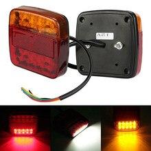 12v caminhão de reboque 20 led luz indicadora de sinal de volta parada de freio traseira lâmpada 107x102x30mm