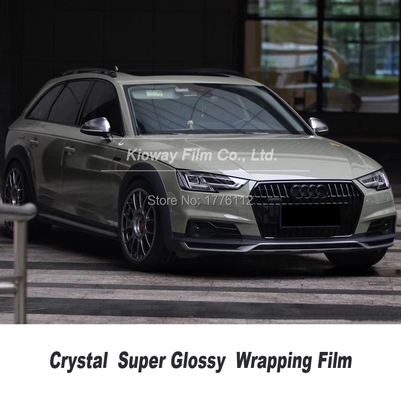 Highest quality gloss wrapping film vinyl foil combat green wrap vinyl car rapping Car wrapping Foil quality Warranty(China)