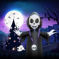 Halloween Inflatable black ghost Outdoor Scary Decoration Halloween Party Inflatable Blow in black ghost Up Inflatable Witch