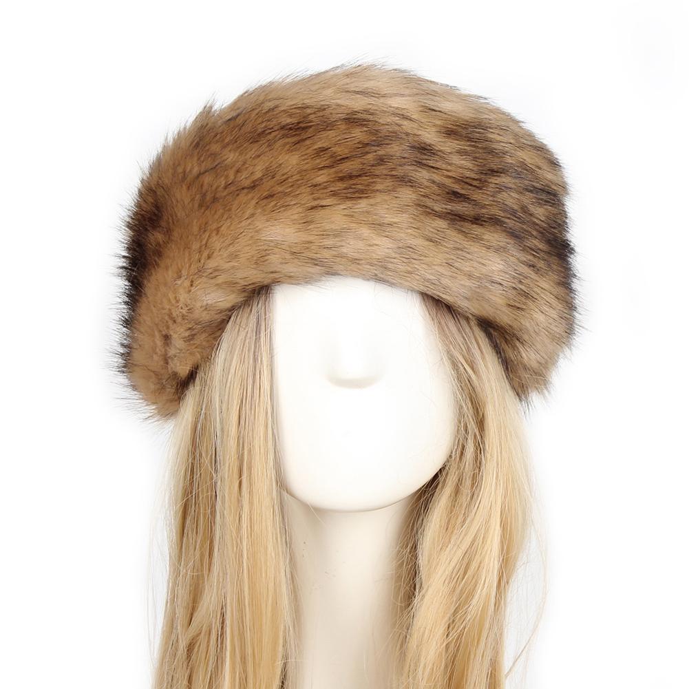 Winter Outdoor cycling Cap Thick Plush Faux Fur Ear Warm Ski hat Mask Earmuffs