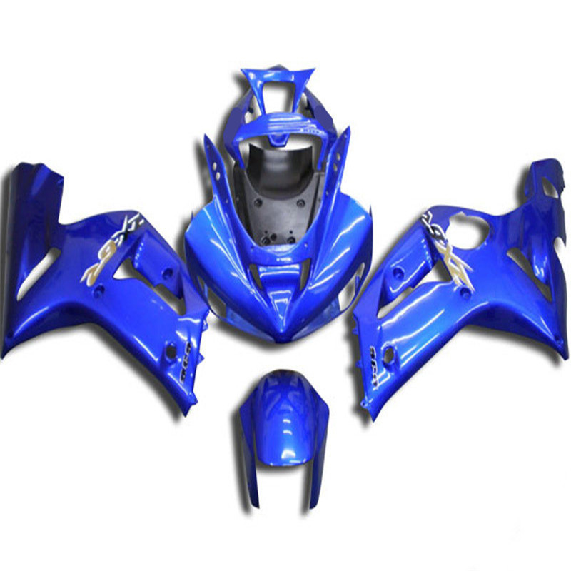 Injection mold Fairing kit for KAWASAKI Ninja ZX6R 03 04 ZX6R <font><b>636</b></font> <font><b>2003</b></font> 2004 Complete blue ABS Fairings set image