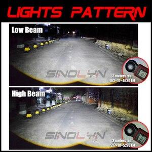 Image 5 - Sinolyn 2.5 ثنائية LED عدسة مصباح أمامي شكل عيون الصقر العدسات H4 H7 H1 9005 9006 العارض LED للسيارات السيارات أضواء الملحقات التحديثية