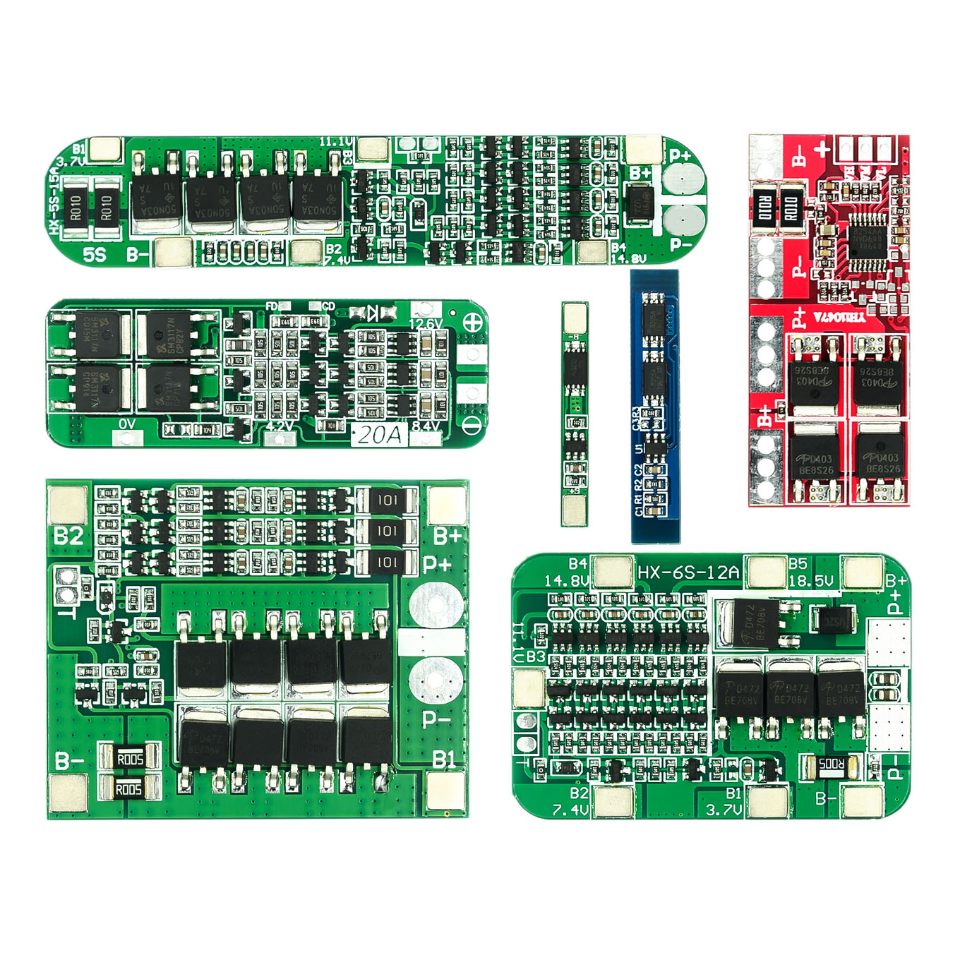 1S 2S 3S 4S 3A 20A 30A Li-ion Lithium Battery 18650 Charger PCB BMS Protection Board For Drill Motor Lipo Cell Module 5S 6S(China)
