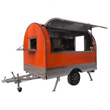 custom made food truck concession food trailer Orange Stainless Steel Concession Food Trailer Food Truck