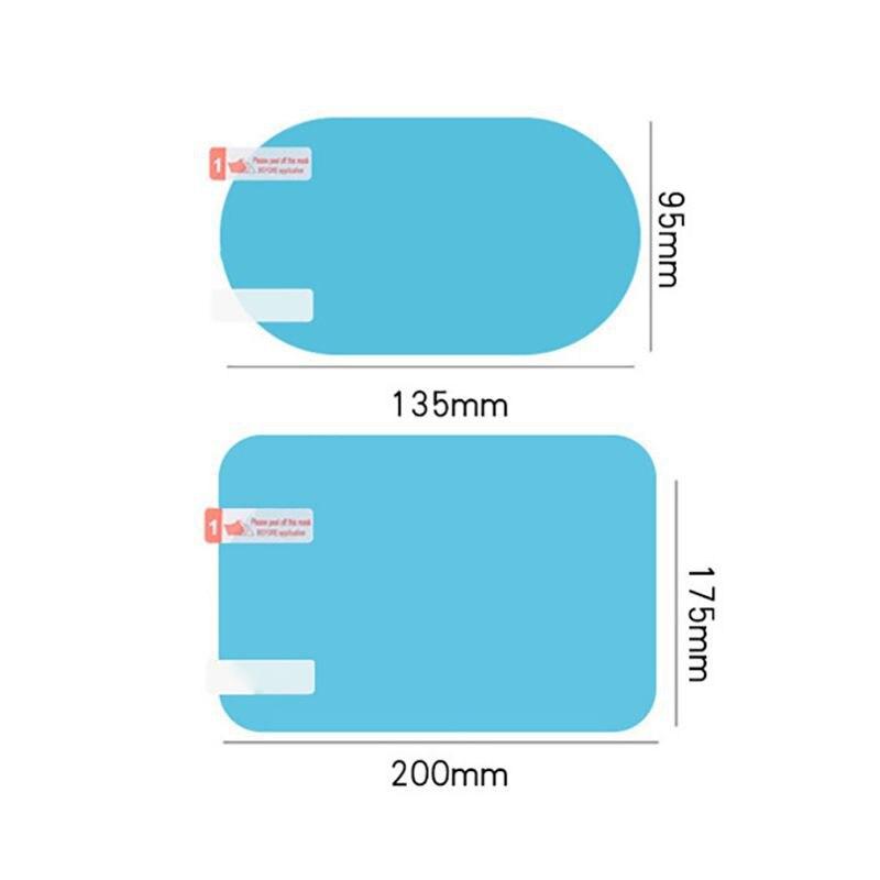 Balight 2 szt. Szklana folia samochodowa przeciwdeszczowa przeciwmgielna samochodowa naklejka na lusterko wsteczne folia ochronna osłona przeciwdeszczowa