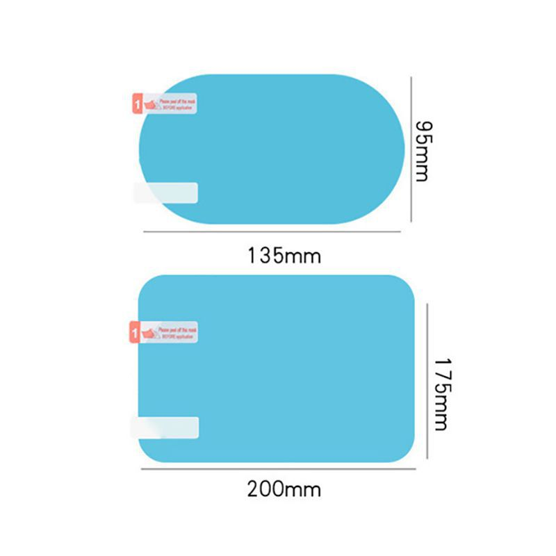 Balight 2PCS Car Glass Film Rainproof Anti-Fog Car Rearview Mirror Sticker  Protective Film Rain Shield