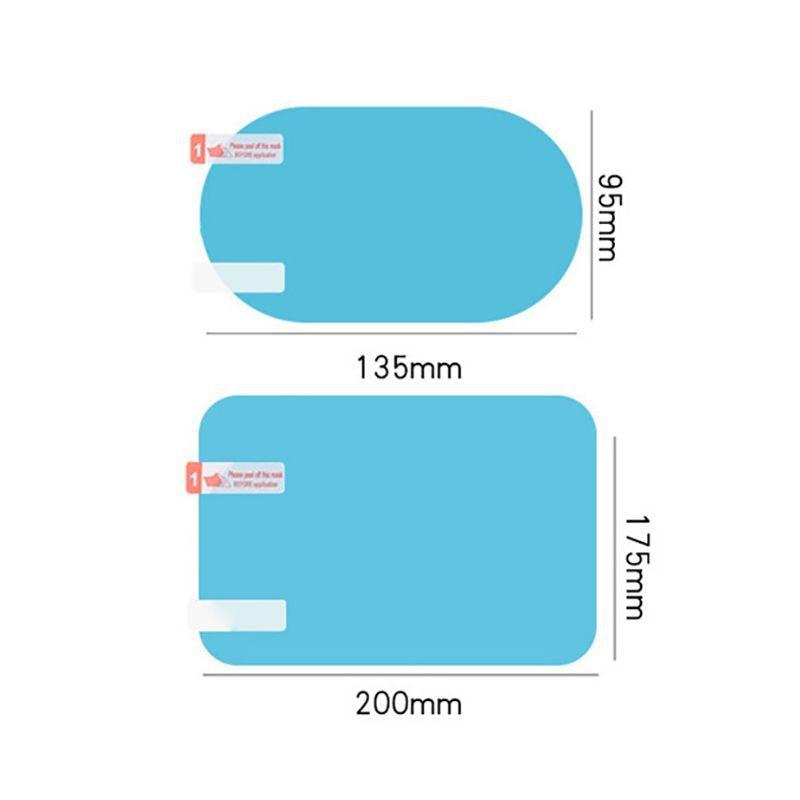 Balight 2PCS Velo Di Vetro Auto Antipioggia Anti-Fog Car Specchio Retrovisore Sticker Pellicola Protettiva Shield Pioggia