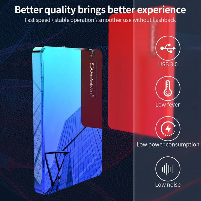 ABS color HDD 2.5 1TB external hard drive 1TB 2TB storage device hard drive for computer portable HD 1 TB USB 3.0 3
