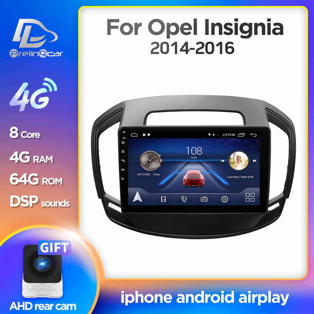 4G LTE Android 9.0 gps per auto multimedia video radio player in dash per opel insignia 2014-2017 anni di navigazione stereo