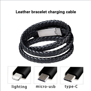 Leather Bracelet Charger Cable