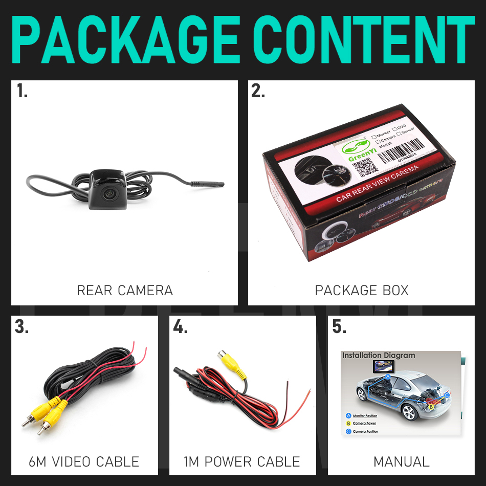Backup Camera With Dynamic Intelligent Trajectory Moving Guide Line Rear View
