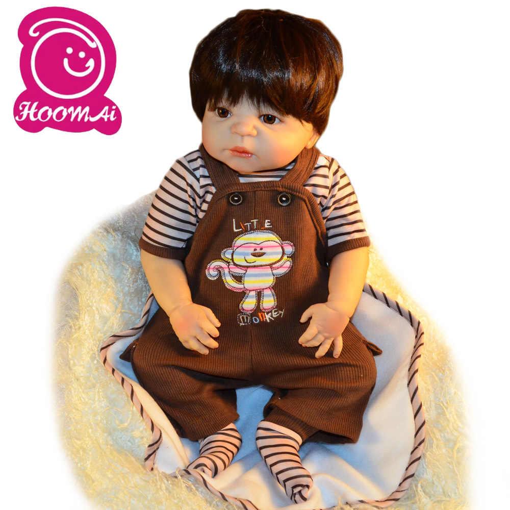 55 cm boneca reborn de corpo inteiro silicone macio reborn realista recém-nascidos bonecas para meninas brinquedos