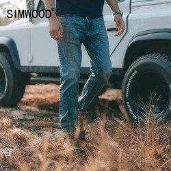 Simwood 2021 Lente Nieuwe Slim-Fit Tapered Zelfkant Denim Jeans Mannen Plus Size Casual Hoge Kwaliteit Jean Merk Kleding SK130116