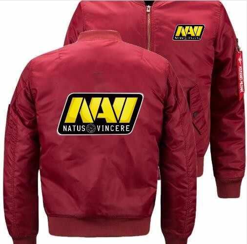 2020 new natus vincere navi 패턴 폭격기 비행 비행 재킷 겨울 두꺼운 따뜻한 지퍼 남성 자켓 anime men's casual coat