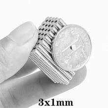 100 magnets 10000 pces 3x1 mini pequenos ímãs redondos 3mm * 1mm diâmetro 3x1mm permanente ndfeb ímãs poderosos fortes 3*1mm do ímã do neodímio