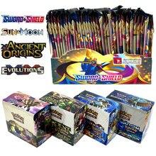 2020 mais novo 324 pces cartões pokemon tcg: espada & escudo booster caixa de jogo de cartão de negociação colecionável