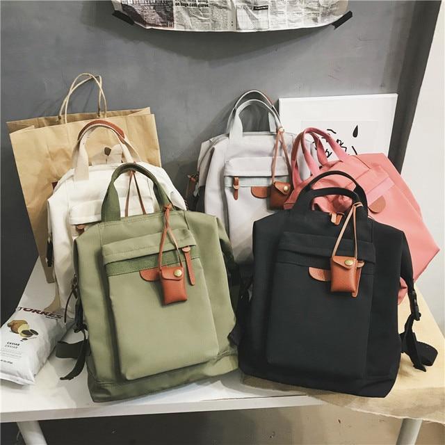 Fashion Women's backpack Students School Backpacks Female Travel Bag School bags for Teenager Girls Rucksack scoolbag Mochilas 5