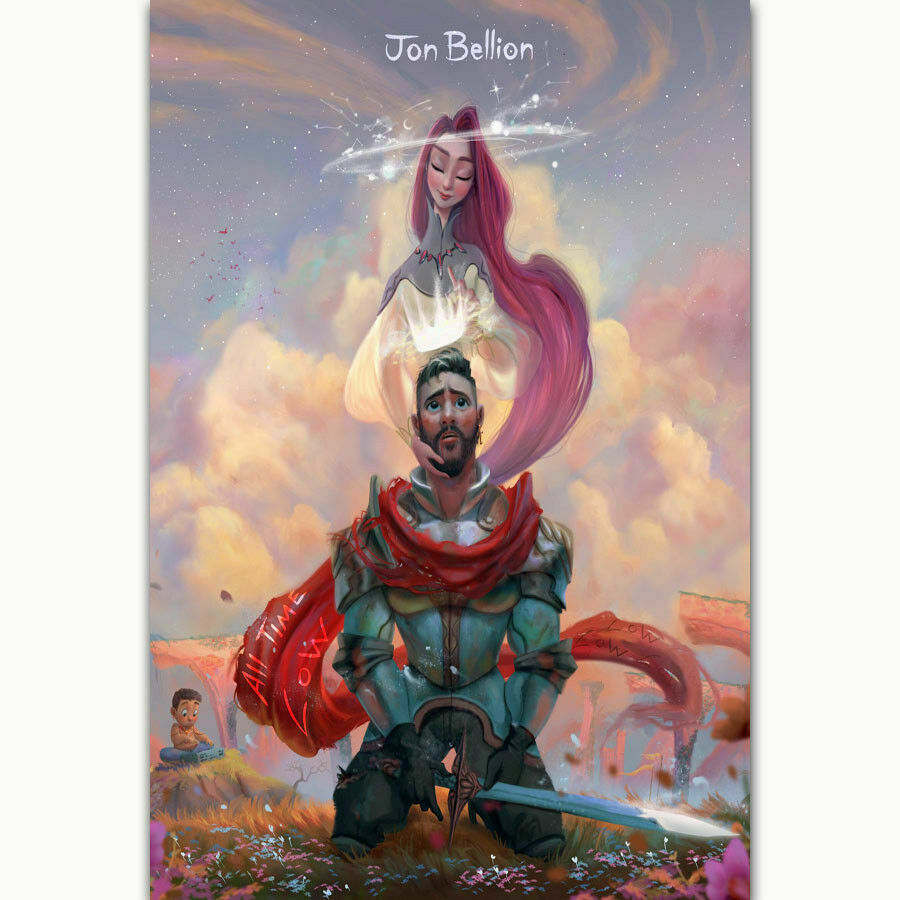 F244 Jon Bellion All Time Low Music Comic StaR Silk Fabric Wall Poster Art Decor Sticker Bright image