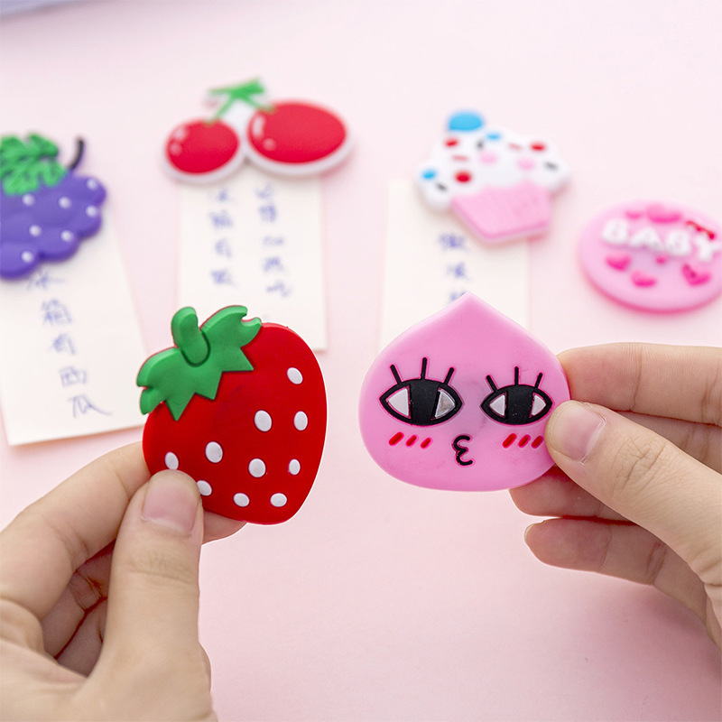 Kawaii Cartoon Fruit Sticker Magnet Fridge Magnets Decor for Refrigerator Magnets Message Board Magnet Kids Household Decoration(China)