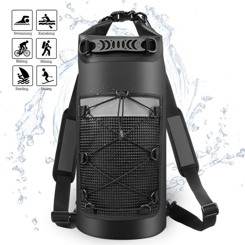 20L Waterproof Dry Bag With Phone Case Swimming Bag Roll Top Dry Sack For Boating Fishing Surfing Rafting River Trekking
