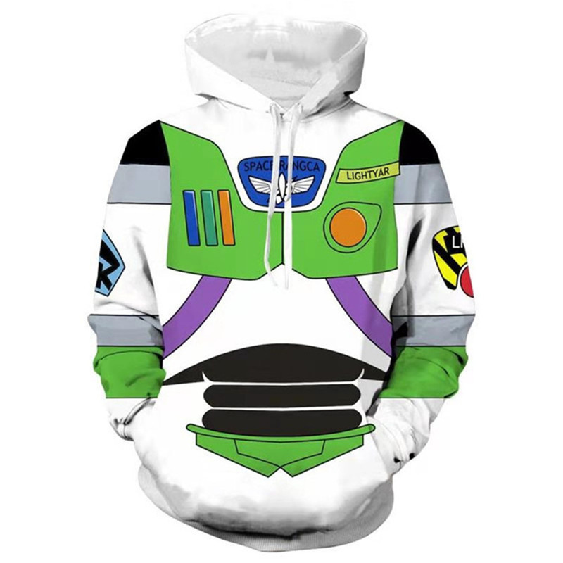 2019 New Toy Story 4 Anime Cosplay Buzz Lightyear Sweatshirt Hoodie Sweater 3D Printing Character Costume Halloween Blouse