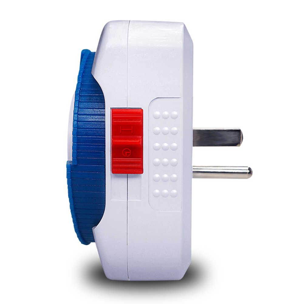 24 godzin Timer mechaniczny przełącznik gniazdo elektryczne ścienne gniazdo elektryczne zegar Home