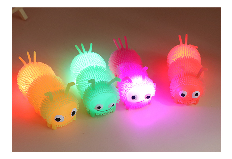 """""""Glow In The Dark"""" Rubber Flash Light Glowing LED Stars Kids Toys"""