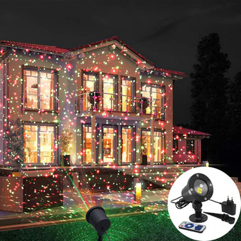 Outdoor Moving Full Sky Star Laser Projector Landscape Lighting Red&Green LED Stage Light for Christmas Party Garden Lights waterproof outdoor 10 pattern led laser landscape lights garden projector moving pattern stage light for christmas holiday
