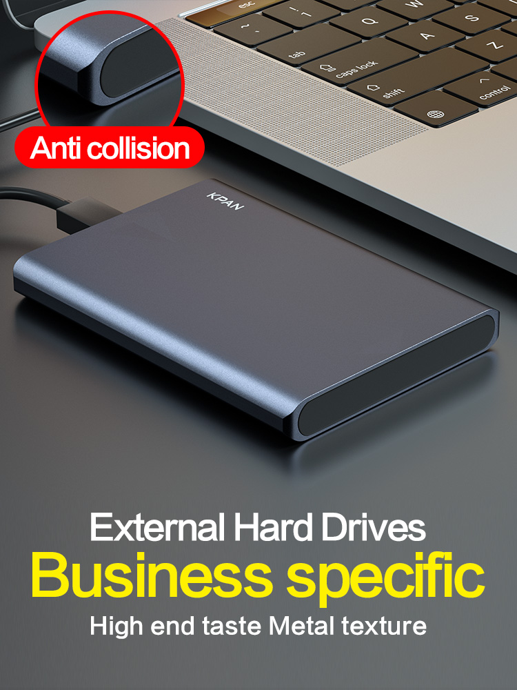 KPAN USB3.0 1TB External Hard Drive 2TB Metal Case HDD HD Hard Disk 500G Mobile Hard Disk HDD Storage Devices For Mac PS4,TV Box