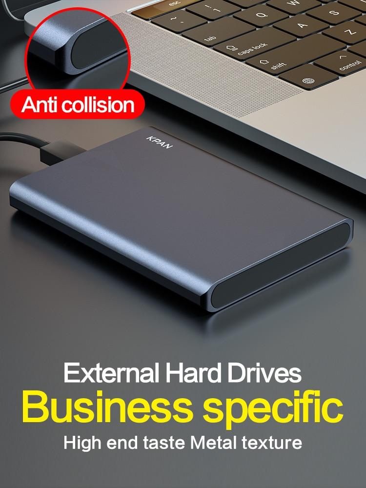 KPAN USB3.0 1TB External Hard Drive 2TB Metal Case HDD HD Hard Disk 500G Mobile Hard Disk HDD Storage Devices For Mac PS4,TV Box