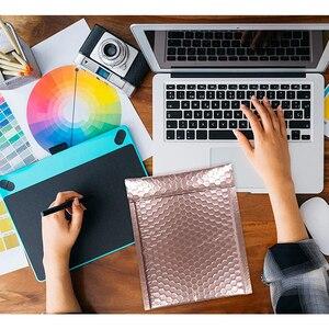 Image 4 - Venda quente de 25 polegadas de ouro rosa colorido, bolha vermelha 7x9 polegadas pacote de envelopes acolchoados cd à prova d água bolsa para presentes 18x23cm