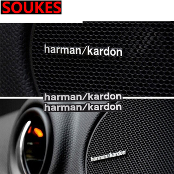Car Audio Stickers Car-Styling For Harman/Kardon For Audi A3 A6 C5 A4 B6 Mercedes W203 W211 BMW E46 E90 E60 E39 E36 E34 E92 E91 image